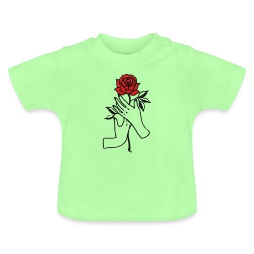 Fiore rosso - Maglietta per neonato