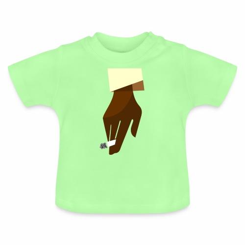 Hand mit Kippe - Baby T-Shirt