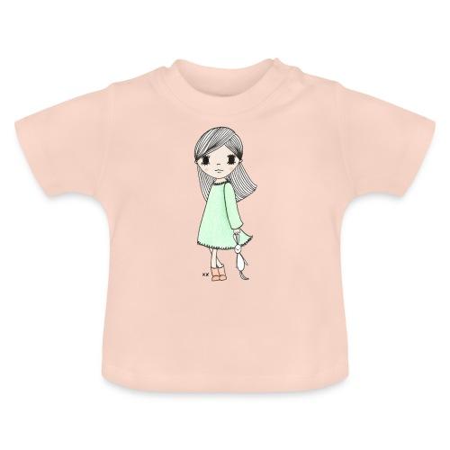 meisje met knuffel - Baby T-shirt