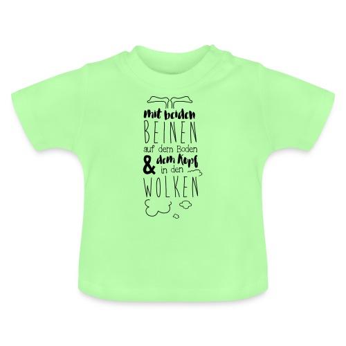 Kopf in den Wolken - Baby T-Shirt