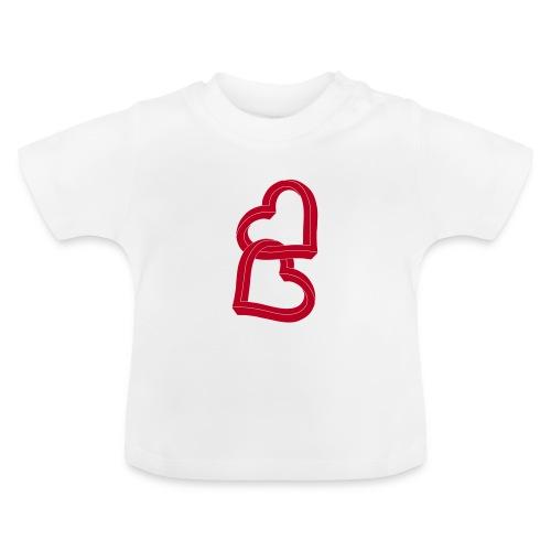Due cuori uniti ca27 - Maglietta per neonato