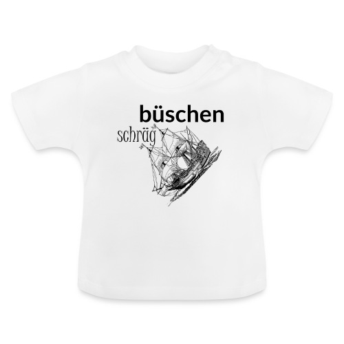 büschen schräg - Design für Fans des Nordens - Baby T-Shirt