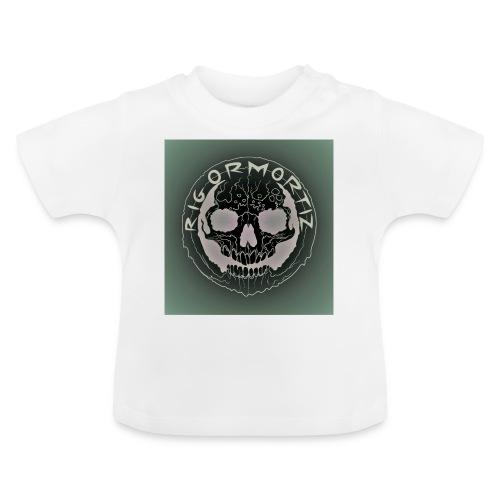 Rigormortiz Dark Solid Background Logo Design - Baby T-Shirt