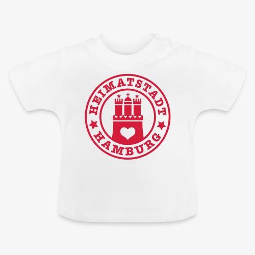 Hamburg Heimatstadt Wappen 1c Herz - Baby T-Shirt