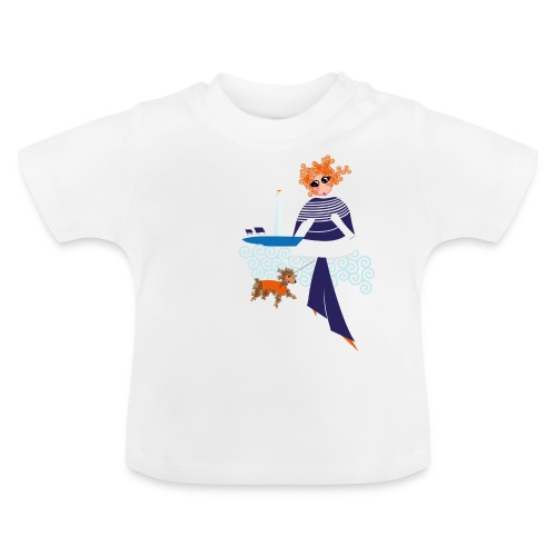 Izel Dousig mariniere bleu marine - T-shirt Bébé