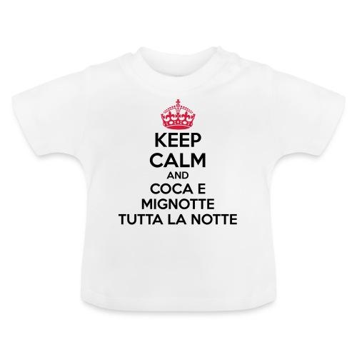 Coca e Mignotte Keep Calm - Maglietta per neonato