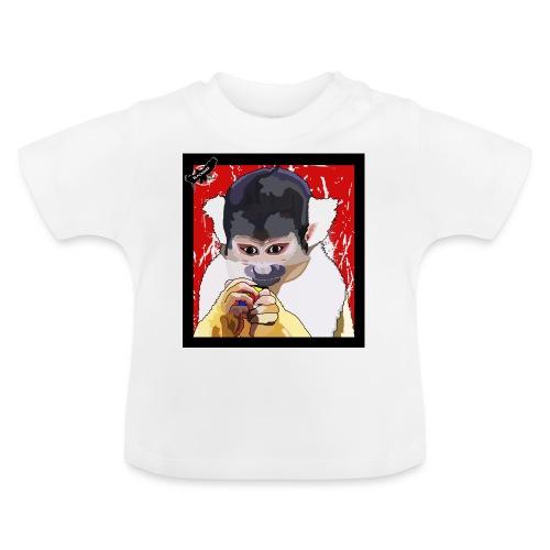 'Clever Monkey 2' by BlackenedMoonArts, w. logo - Baby T-shirt