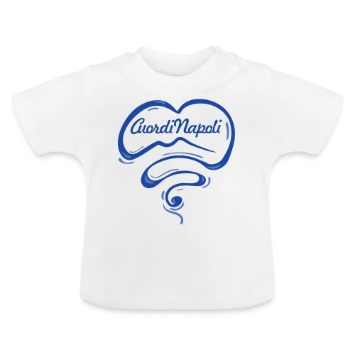 New Logo CuordiNapoli Blu - Maglietta per neonato
