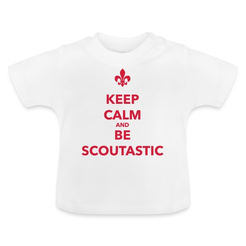 Keep calm and be scoutastic - Farbe frei wählbar - Baby T-Shirt