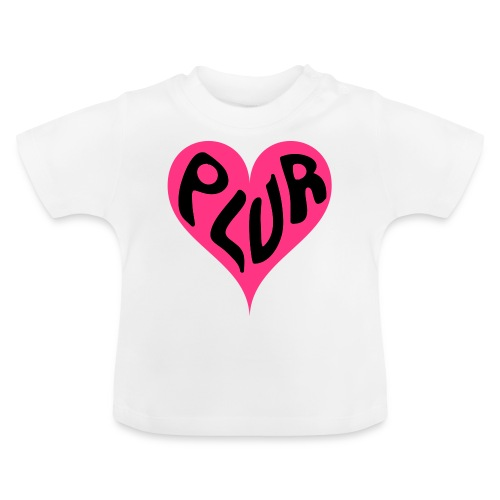PLUR - Peace Love Unity and Respect love heart - Baby T-Shirt