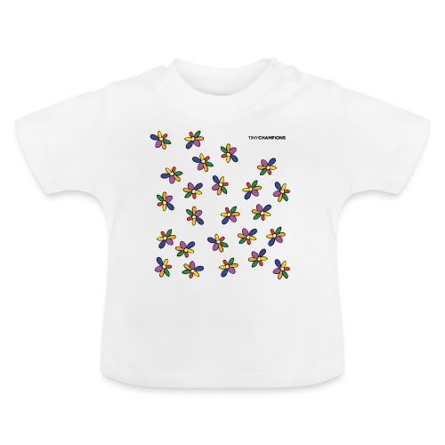 colour flower design tc - Baby T-Shirt