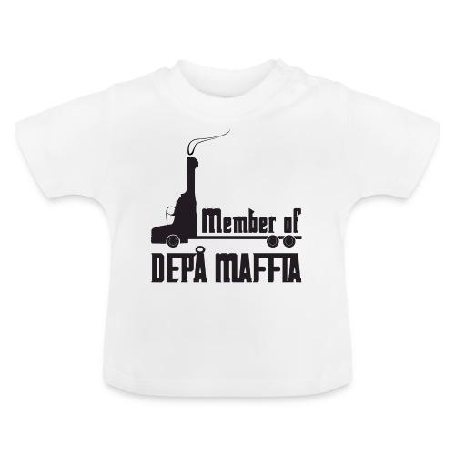 Depå Maffia svart tryck - Baby-T-shirt