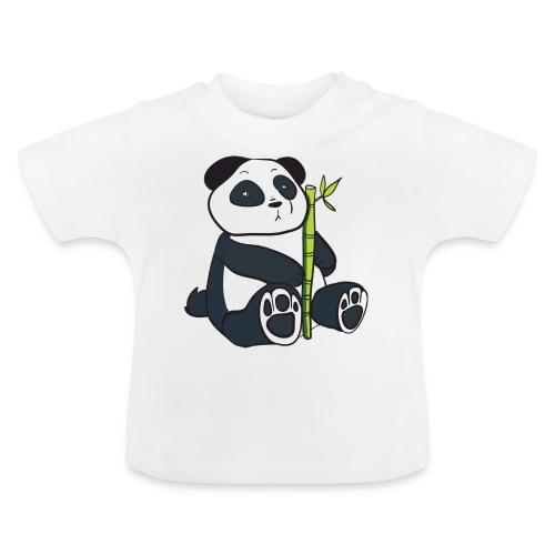 Oso Panda con Bamboo - Camiseta bebé