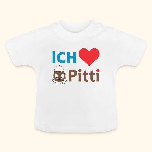 Pittiplatsch Ich liebe Pitti auf hell (blau/braun - Baby T-Shirt