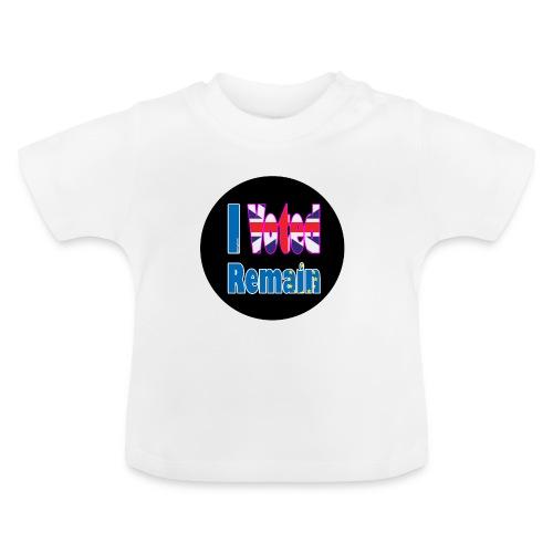 I Voted Remain badge EU Brexit referendum - Baby T-Shirt