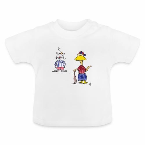 Cartoon Baseball - Baby T-Shirt