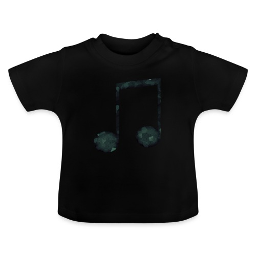 Low Poly Geometric Music Note - Baby T-Shirt