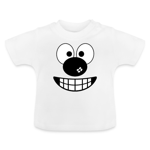Funny cartoon face - Baby T-Shirt