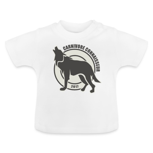 Fleischfresser - Grillshirt - Der mit dem Wolf heu - Baby T-Shirt