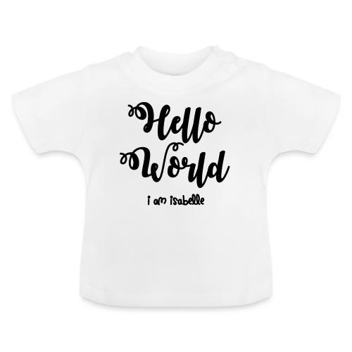 hello world new black design - Baby T-Shirt