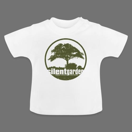 hiljainen puutarha (vihreä oldstyle) - Vauvan t-paita