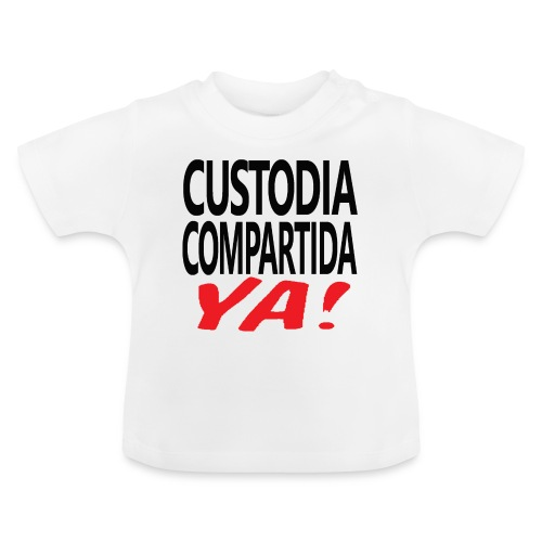 Custodia Compartida YA Negro - Camiseta bebé