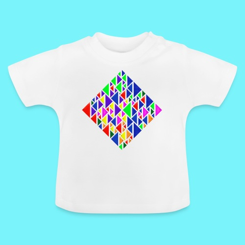A square school of triangular coloured fish - Baby T-Shirt