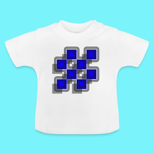Blue Blocks with shadows and perimeters - Baby T-Shirt