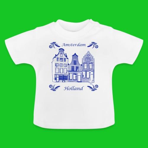 Holland Grachtenpanden Delfts Blauw - Baby T-shirt