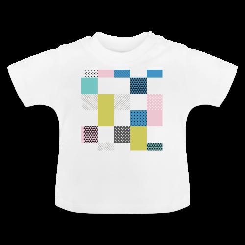 Abstract art squares - Baby T-Shirt