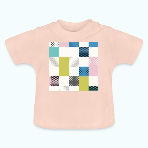 Abstract art squares - Baby T-Shirt