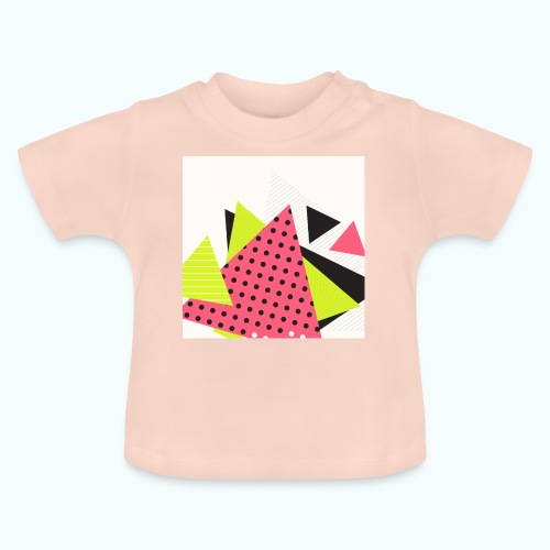 Neon geometry shapes - Baby T-Shirt