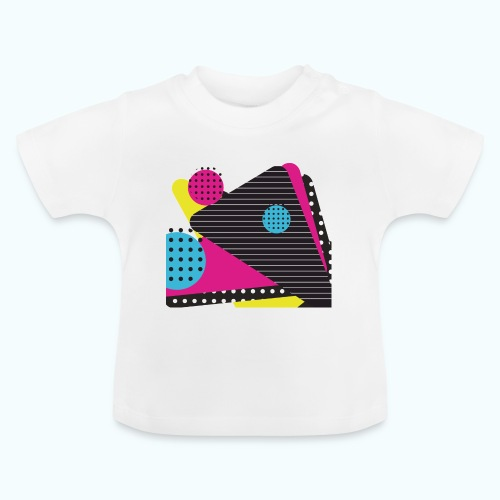 Abstract vintage shapes pink - Baby T-Shirt