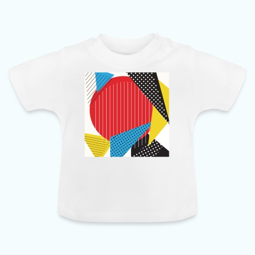 Geometry collage Abstract colors - Baby T-Shirt