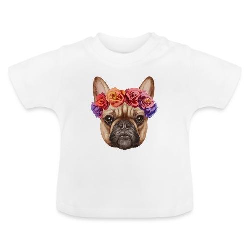 Buldog w Kwiatkach - Koszulka niemowlęca