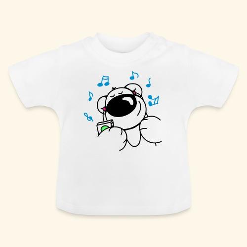 Der Bär hört Musik - Baby T-Shirt
