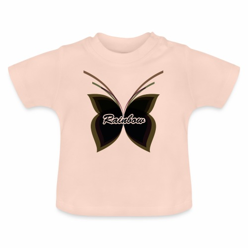Black Butterfly Rainbow - Baby T-Shirt
