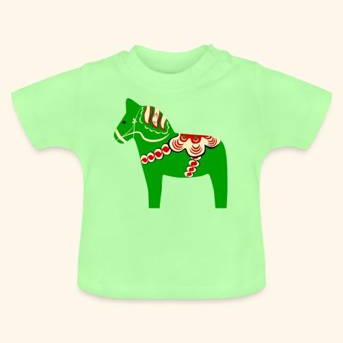 Grön dalahäst - Baby-T-shirt