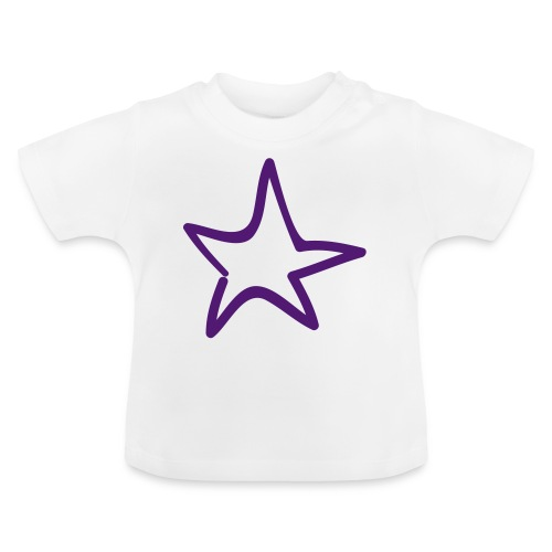 Star Outline Pixellamb - Baby T-Shirt