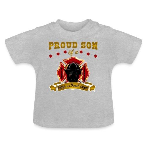 Stolzer Sohn Feuerwehrmann Hero Helden - Baby T-Shirt