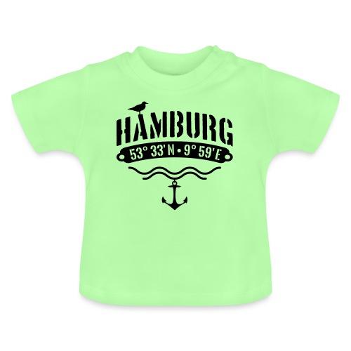 Hamburg Koordinaten Anker Möwe Längengrad - Baby T-Shirt