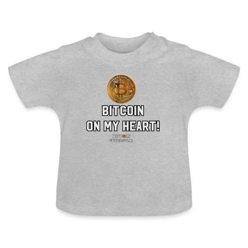Bitcoin on my heart! - Maglietta per neonato