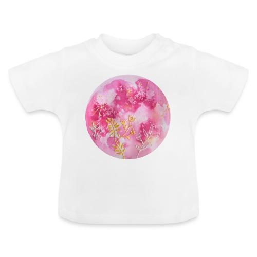 Ręcznie malowany różowy księżyc w pełni - Koszulka niemowlęca