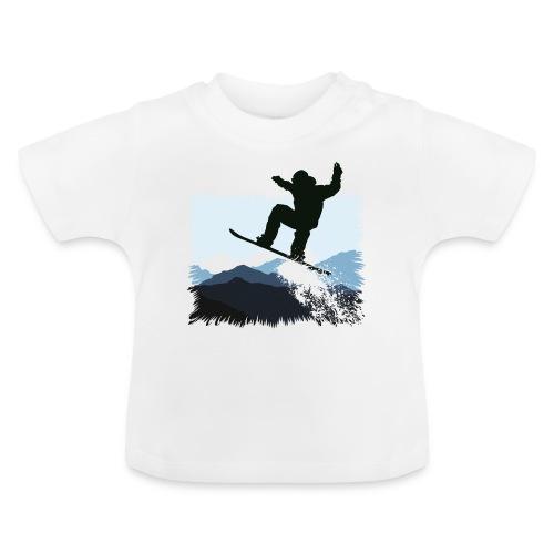 Snowboarder Action Jump | Apresski Shirt gestalten - Baby T-Shirt