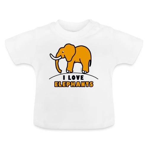 Elefant - I LOVE ELEPHANTS - Baby T-Shirt