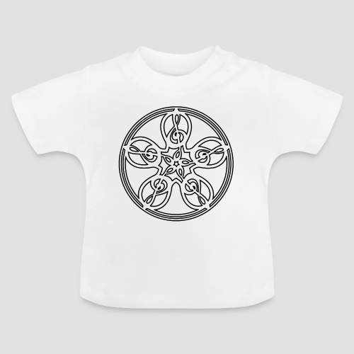 Treble Clef Mandala (black outline) - Baby T-Shirt