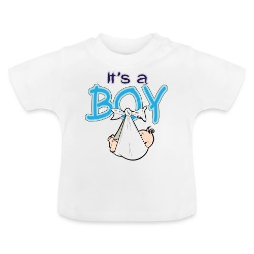 Babyshower Boy Blauw - Baby T-shirt
