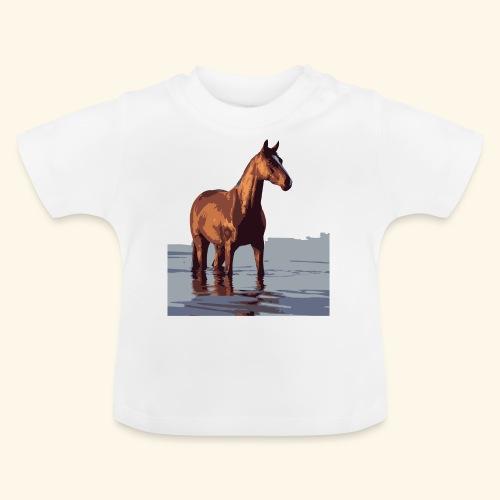 pferd im wasser - Baby T-Shirt