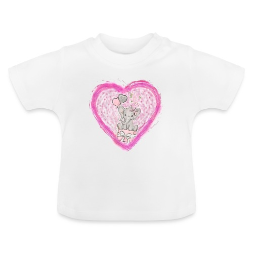 Your-Child pink heart - Baby T-shirt
