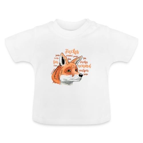 Fuchsportrait mit Lettering - Baby T-Shirt